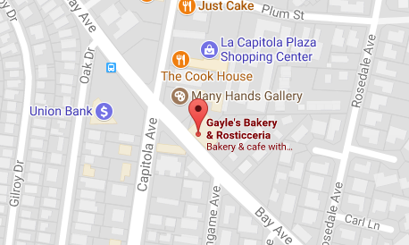 Gayle's Bakery map