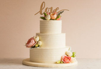 Raspberry Almond Wedding Cake
