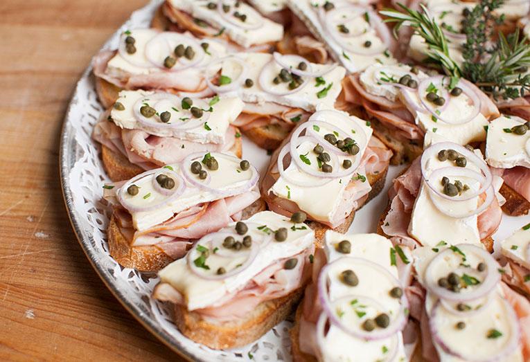 Open-Faced Ham & Brie